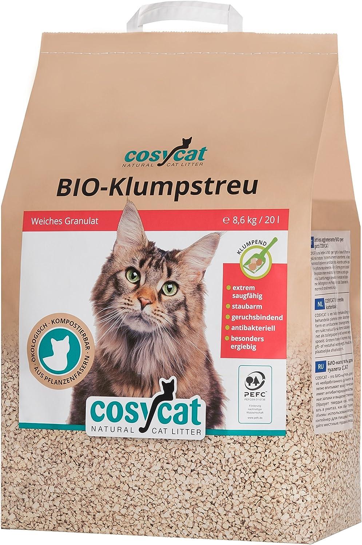 Arena para gatos COSYCAT biodegradable y aglomerante, 20 l ...