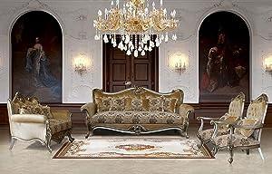 European Furniture 3 Pieces Valeria Luxury Sofa Set
