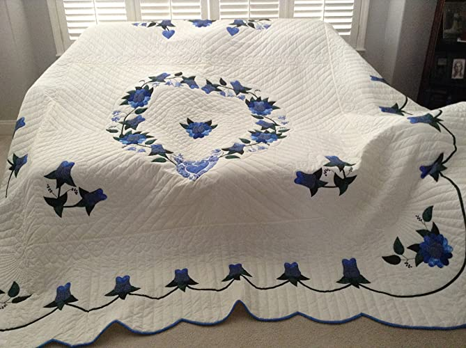 Amazon country rose king size amish made quilt handmade