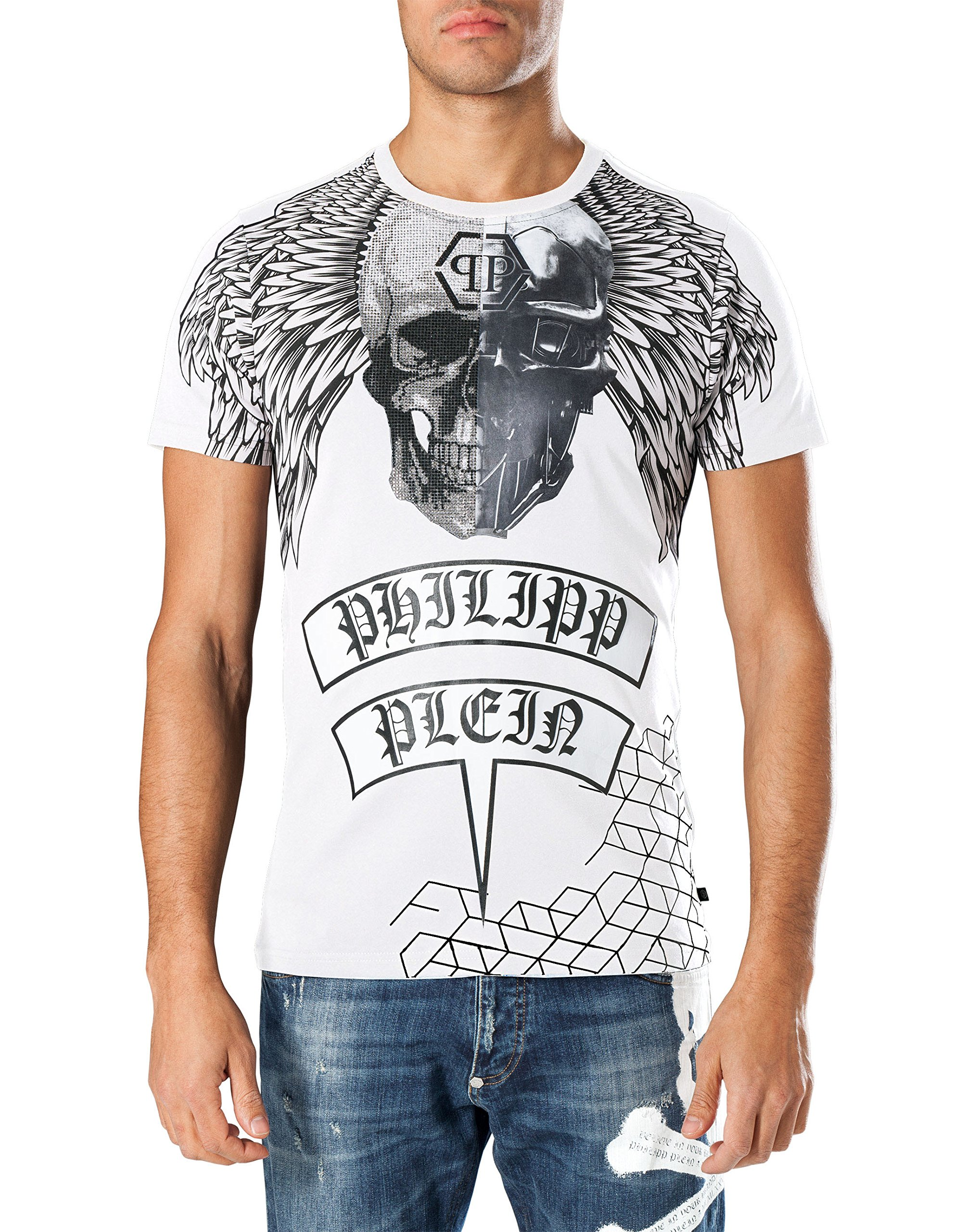 PHILIPP PLEIN Men's T-shirt Hime - white, XXL by Philipp Plein