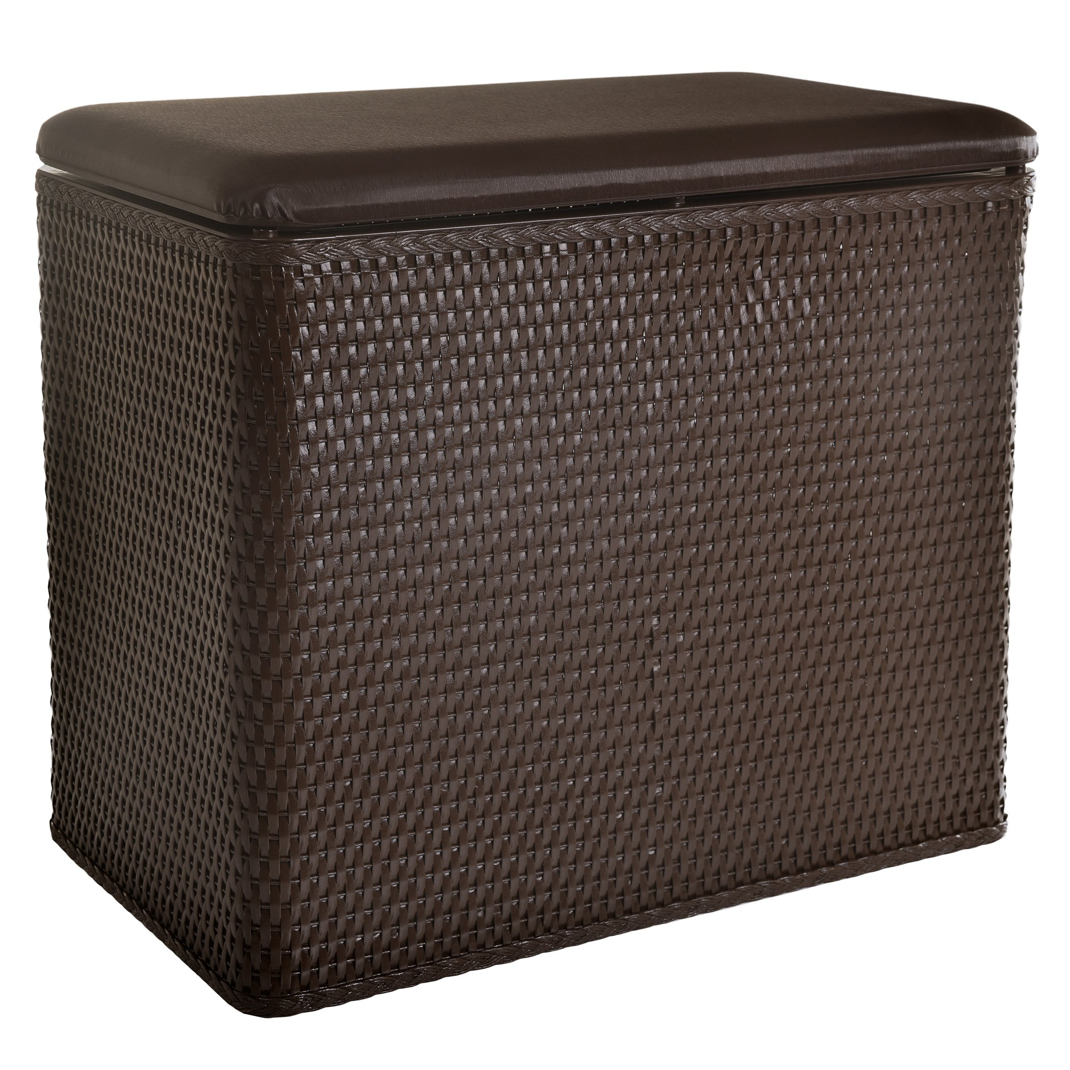 Lamont Home Carter Bench Wicker Laundry Hamper With