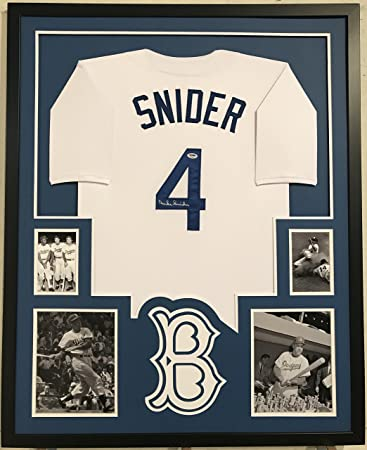 Duke Snider Autographed Custom Framed Brooklyn Dodgers Jersey PSA Witnessed  COA at Amazon s Sports Collectibles Store 3cb710b6054
