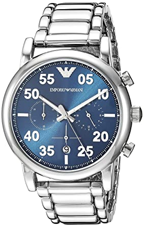 Emporio Armani Analog Blue Dial Men's Watch - AR11132 Men's Watches at amazon