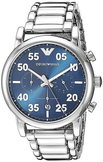d374be13ae Emporio Armani Reloj Cronógrafo para Hombre de Cuarzo con Correa en Acero  Inoxidable AR11132: Amazon.es: Relojes