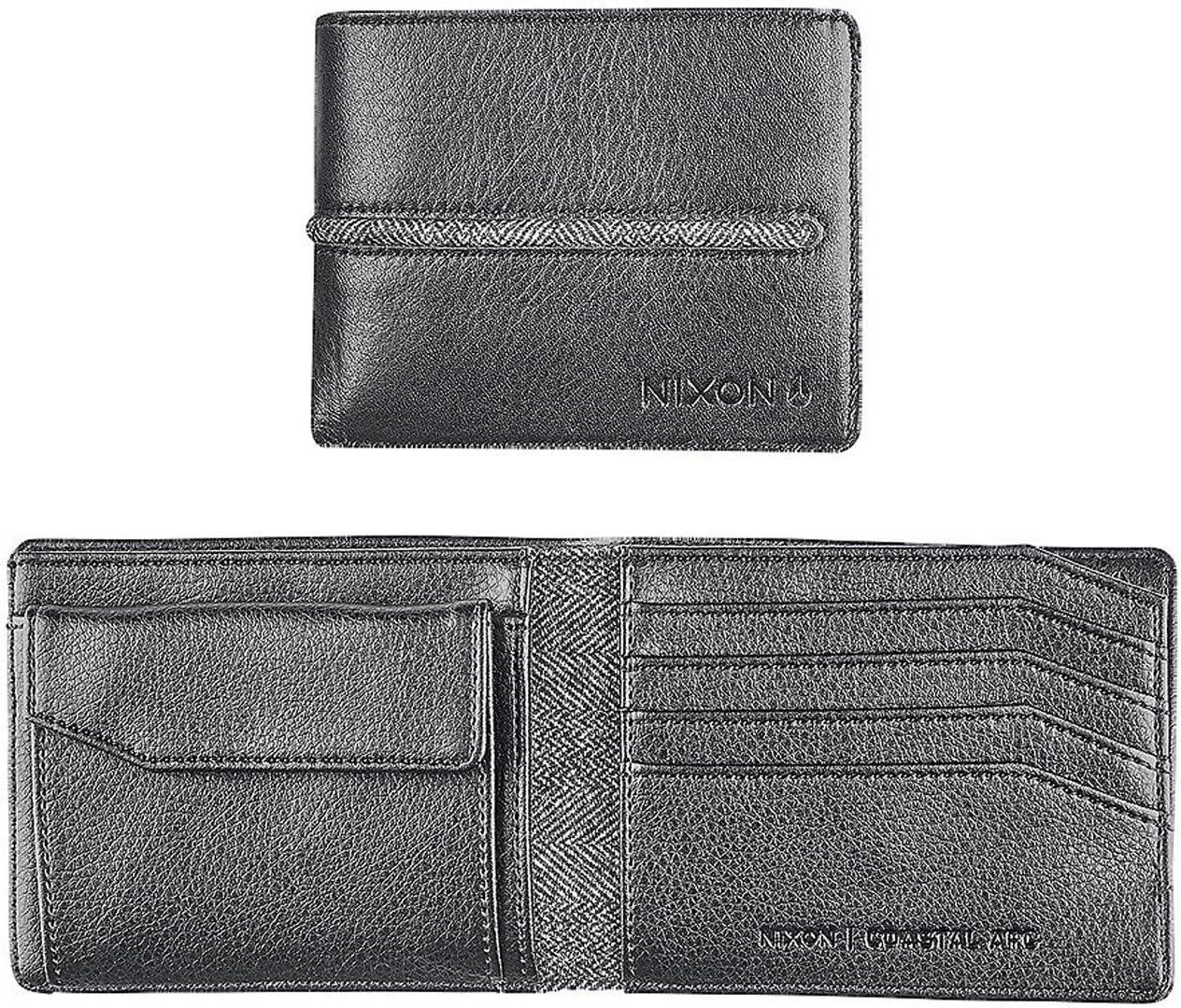 Schwarz Nixon Coastal Arc Bi-Fold Coin Wallet M/ünzb/örse