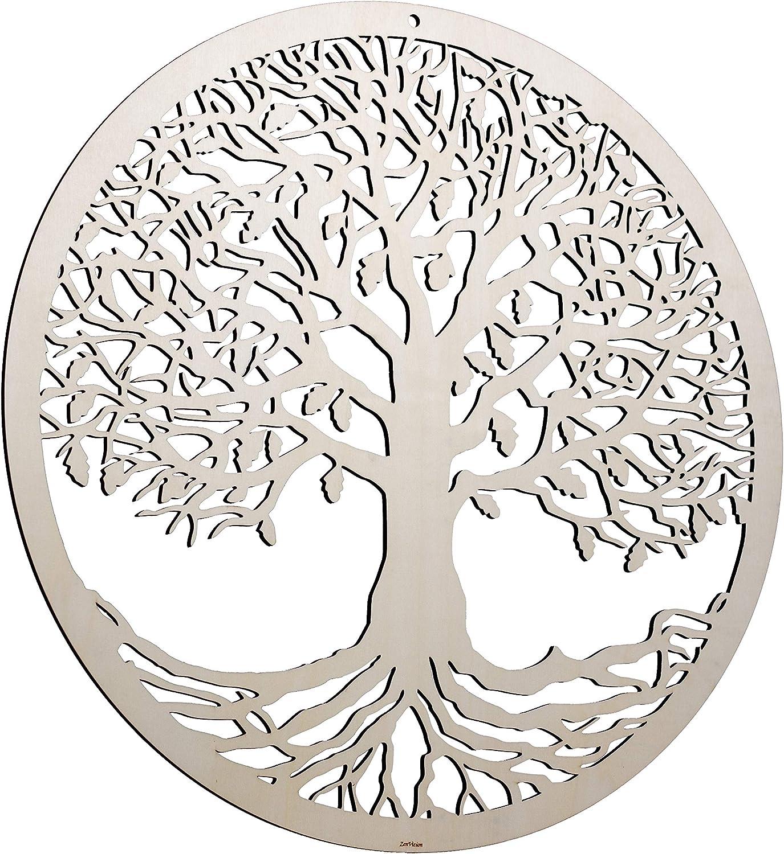 "ZenVizion 25"" Tree of Life Wall Decor, Sacred Geometry Wall Art Yoga Decor, Wooden Art Symbol, Meditation Decor, Spiritual Decor, Housewarming Gift"