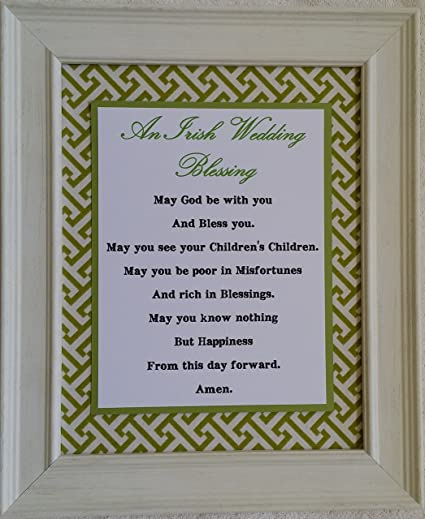 Amazon.com: Irish Blessing - Framed Inspirational Prayer - Wedding ...