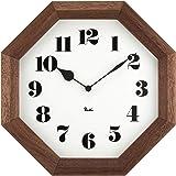 Lemnos (レムノス) 掛け時計 ブラウン サイズ:w24.6×h24.6×d4.8cm WR11-02