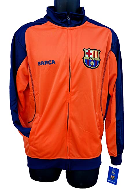 6f490c0a7 FC Barcelona Soccer Official License Soccer Track Jacket Football  Merchandise Adult Size 002 Large