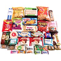 Deluxe Korean Snack Box 36 Count Individual Wrapped Essentials Sample Packs of Candy, Snacks, Chips, Cookies, Treats for Kids, Children, College Students, Adult and Senior