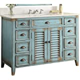 "46"" Benton Collection Cottage Look Abbeville Bathroom Sink Vanity Model CF28885BU"