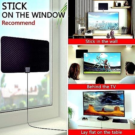 Antena digital HDS TV HD 4K de 120 millas de alcance: Amazon.es: Electrónica