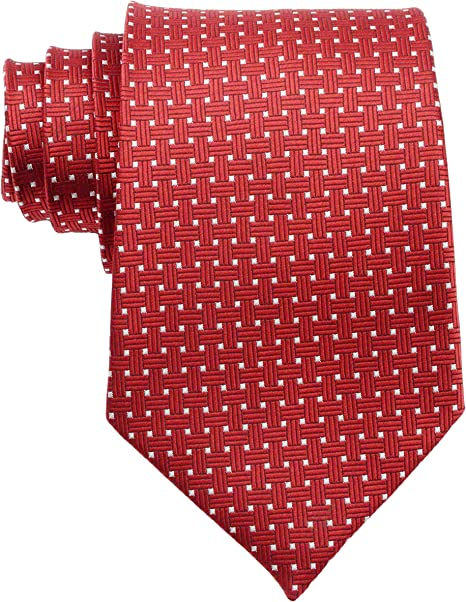 Amazon.com: Ext collectino corbata 100% de Seda, color rojo ...