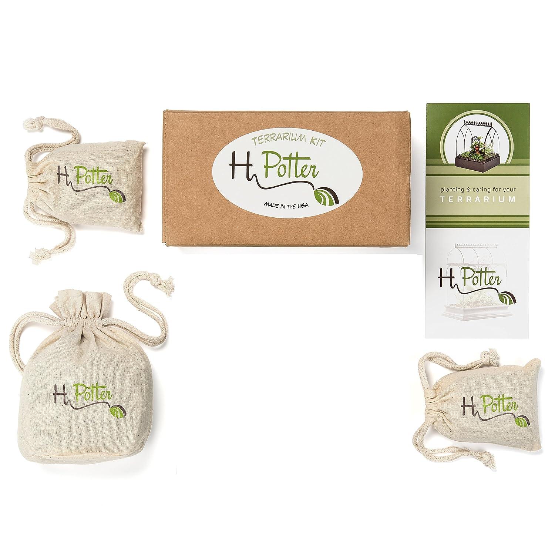 Amazon Com H Potter Terrarium Kit Succulent Soil Supplies For