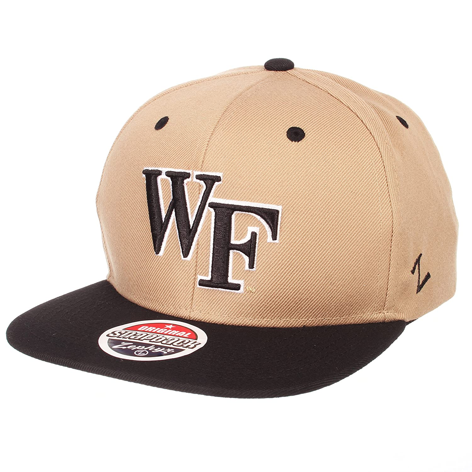 Black//Team Color NCAA Zephyr Wake Forest Demon Deacons Mens Z11 Static Snapback Hat Adjustable