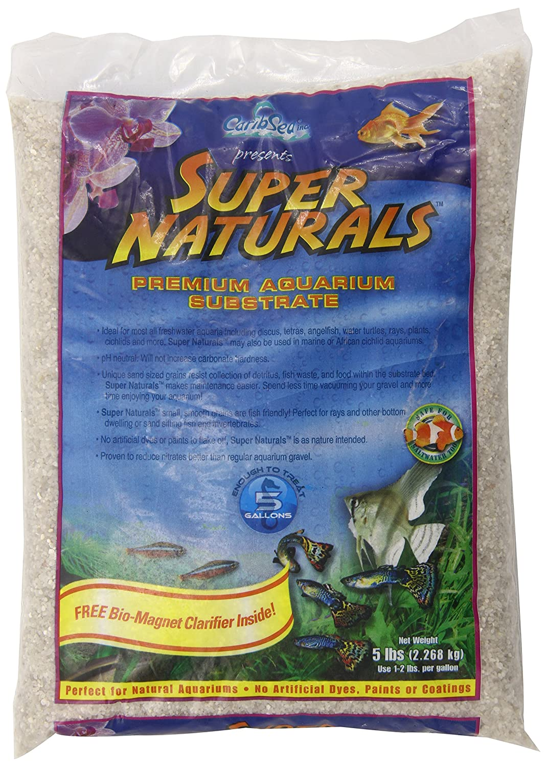 Carib Sea ACS05823 Super Natural Torpedo Beach Sand for Aquarium, 5-Pounds TopDawg Pet Supply 008479058232