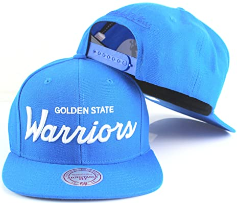 8d6b18b86e5c3 Image Unavailable. Image not available for. Color  Golden State Warriors  NBA Mitchell   Ness Custom Team Logo Adjustable Snapback Hat