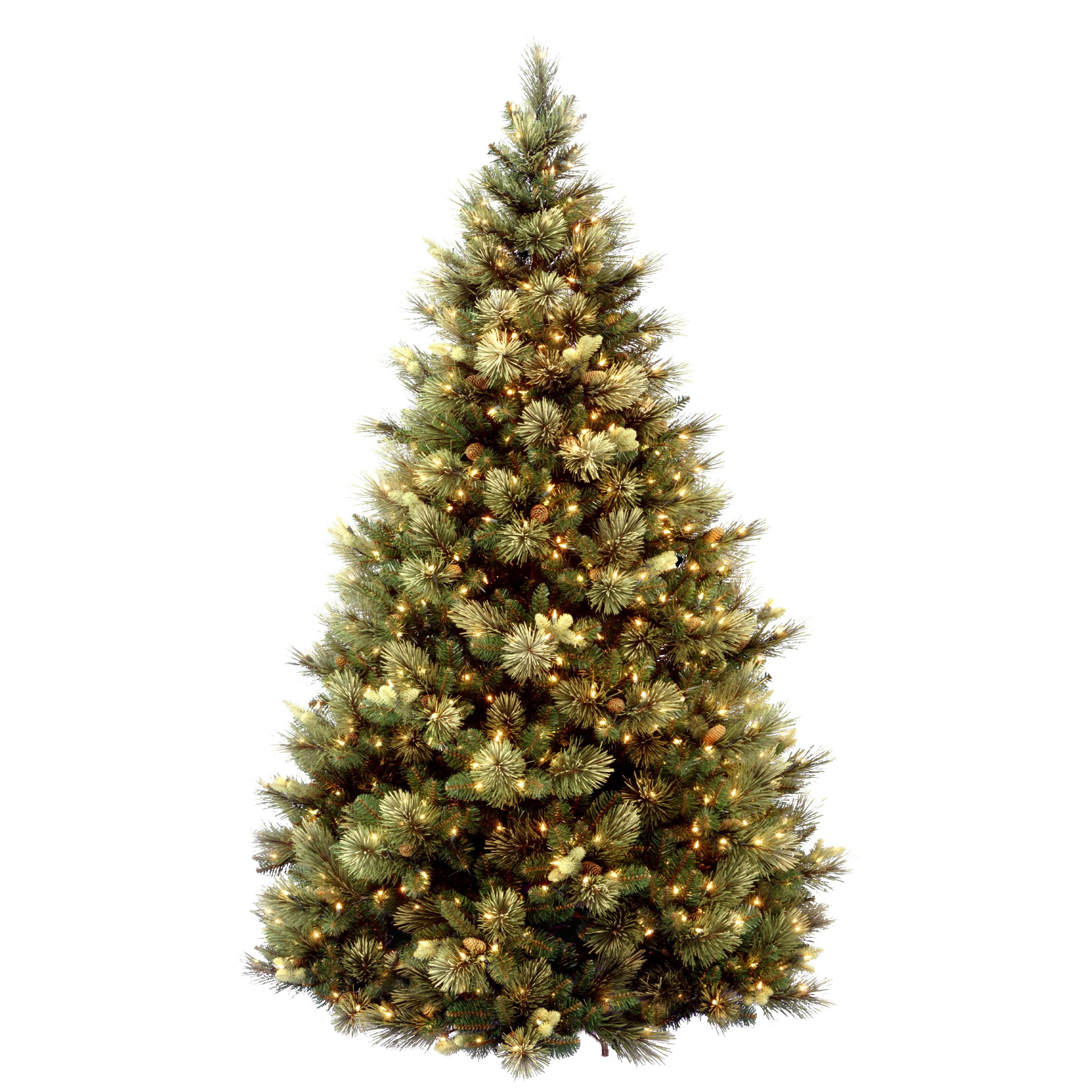 National Tree 7.5 Foot Carolina Pine Tree with Flocked Cones and 750 Clear Lights, Hinged (CAP3-306-75) by National Tree Company (Image #4)