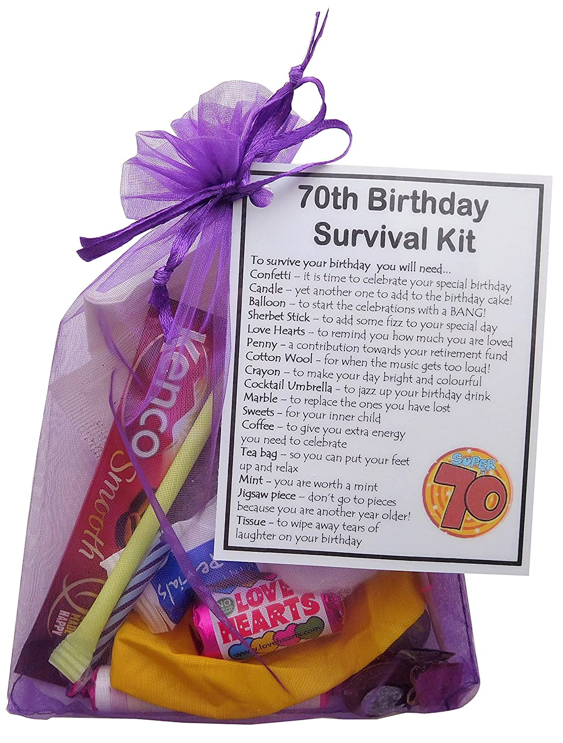 SMILE GIFTS UK 70th Birthday Survival Kit Gift