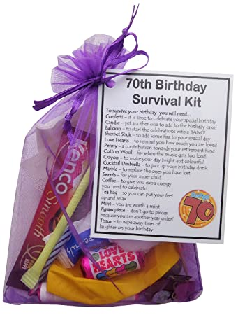 SMILE GIFTS UK 70th Birthday Survival Kit Gift Amazoncouk Office Products