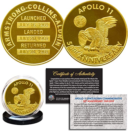 2019 Apollo 11 50th Anniversary Mint Silver Dollar 1969-2019 Commemorative Rare!