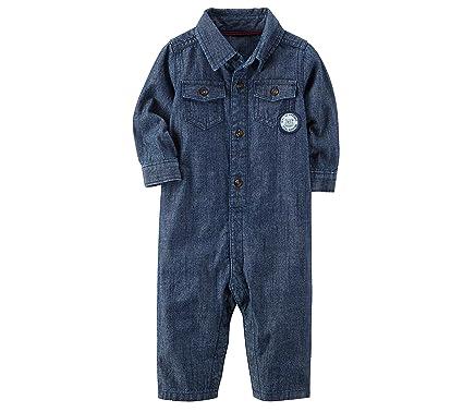 127522041 Amazon.com  Carter s Baby Boys  Denim Jumpsuit  Clothing