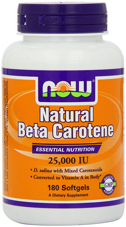 NOW Natural Beta Carotene Softgels Image 2
