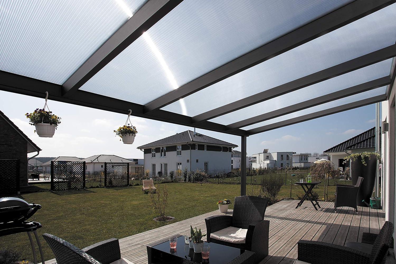 Skan Holz Terrassenüberdachung 541 x 307 cm, Aluminium, Anthrazit ...