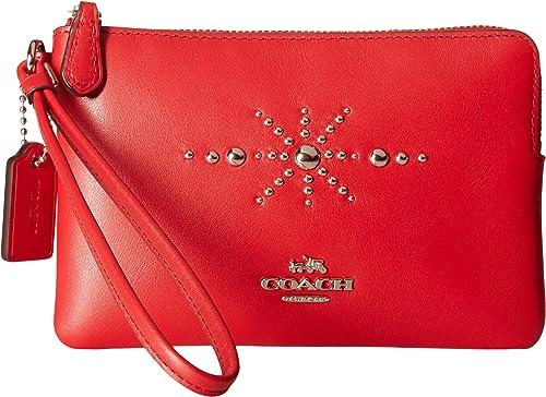 Coach - Cartera de mano con asa para mujer rojo plateado y rojo: Amazon.es: Zapatos y complementos