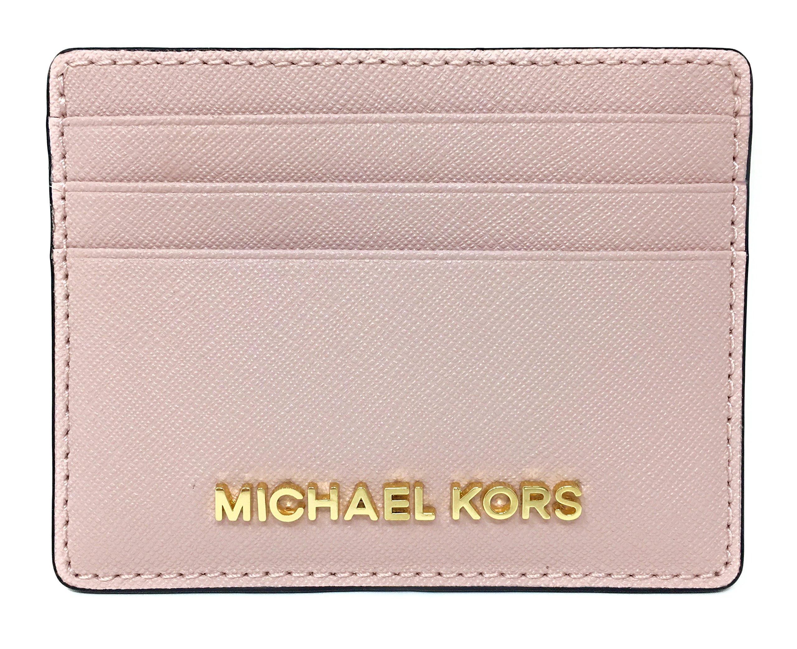 Michael Kors Jet Set Travel Large Saffiano Leather Card Holder (Blossom)