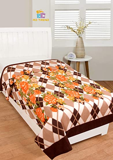 RD TREND Fleece Blankets Single Bed:60X90 Inch- Multicolor (313)
