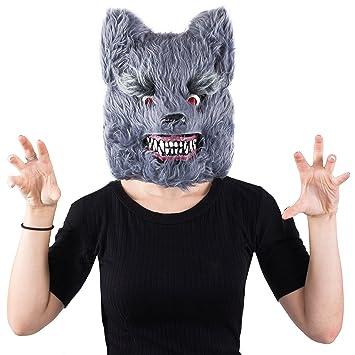 Wolf Mask - Scary Masks - Halloween Mask- Werewolf Mask - Spooky Masks by Tigerdoe  sc 1 st  Amazon.com & Amazon.com: Wolf Mask - Scary Masks - Halloween Mask- Werewolf Mask ...