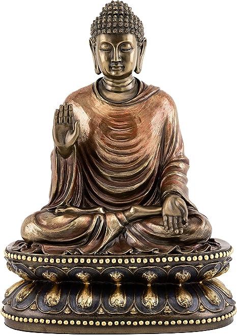 Top Collection Estatua De Buda Shakyamuni Meditando Tocando La Tierra Escultura Iluminada En Bronce Fundido En Frío De Alta Calidad Figura De Buda Supremo De 9 0 In Home Kitchen