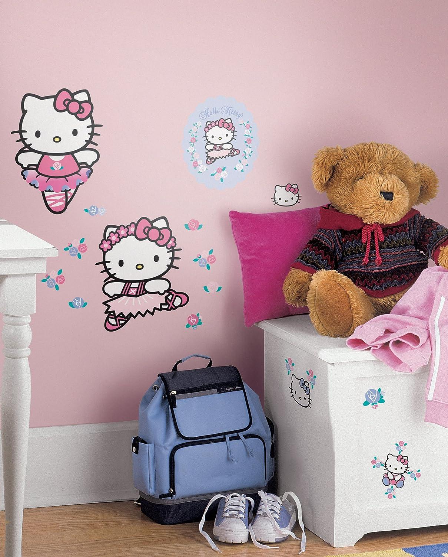 Amazon Roommates Rmk1199scs Hello Kitty Ballet Peel Stick