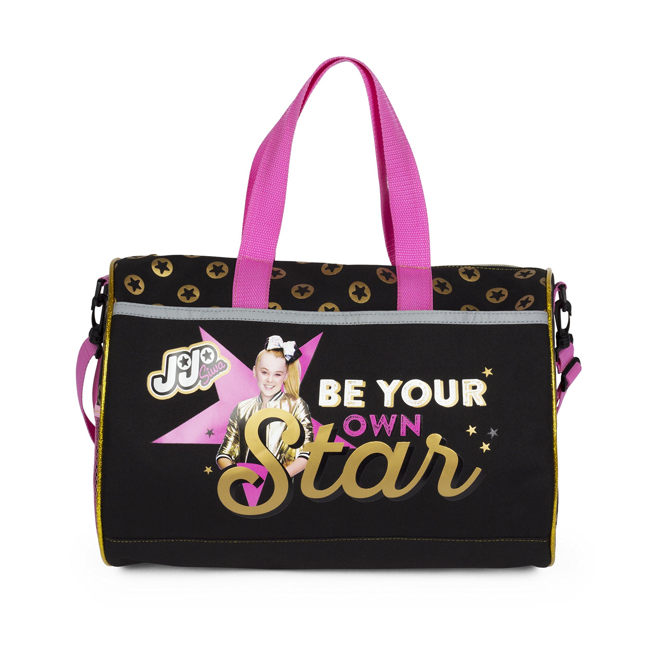 Nickelodeon Be Your Own Star JoJo Siwa Black Duffel Bag for Girls