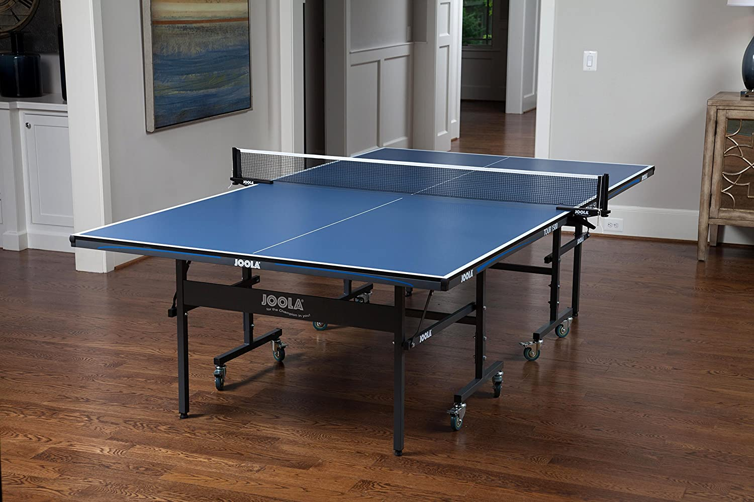 Amazon.com : JOOLA 15mm Tour 1500 Indoor Table Tennis Table and Net ...