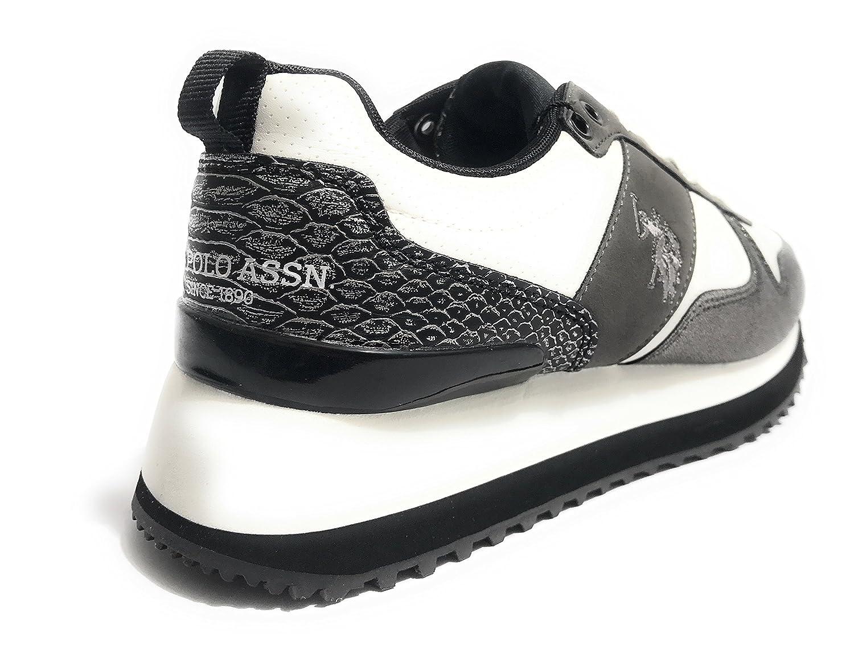 U.S. U.S. U.S. Polo Assn. FRIDA4042S8/Y1 Sneakers Damen BIANCO/ PELTRO b05429
