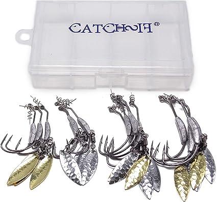 25pcs Fishing Hook Pin Spring Twist Lock for Soft Lure Bait Worm