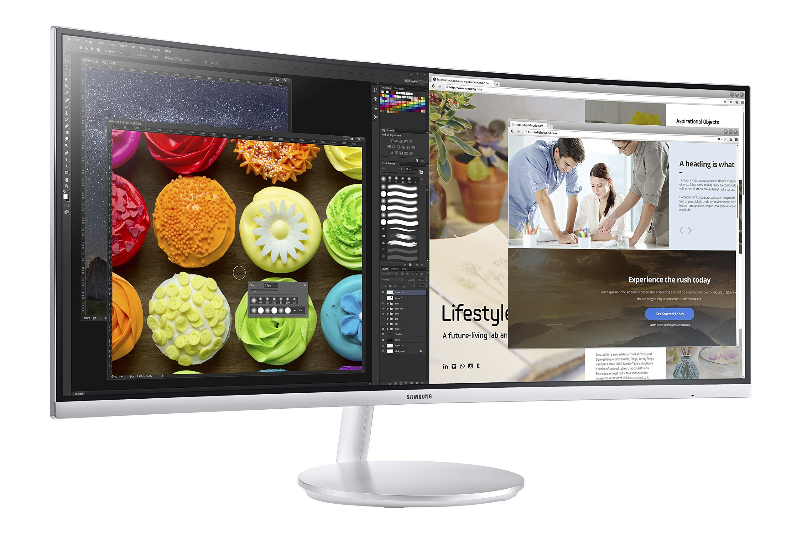 Samsung CF791 Series 34-Inch Curved Widescreen Monitor (C34F791) by Samsung (Image #5)