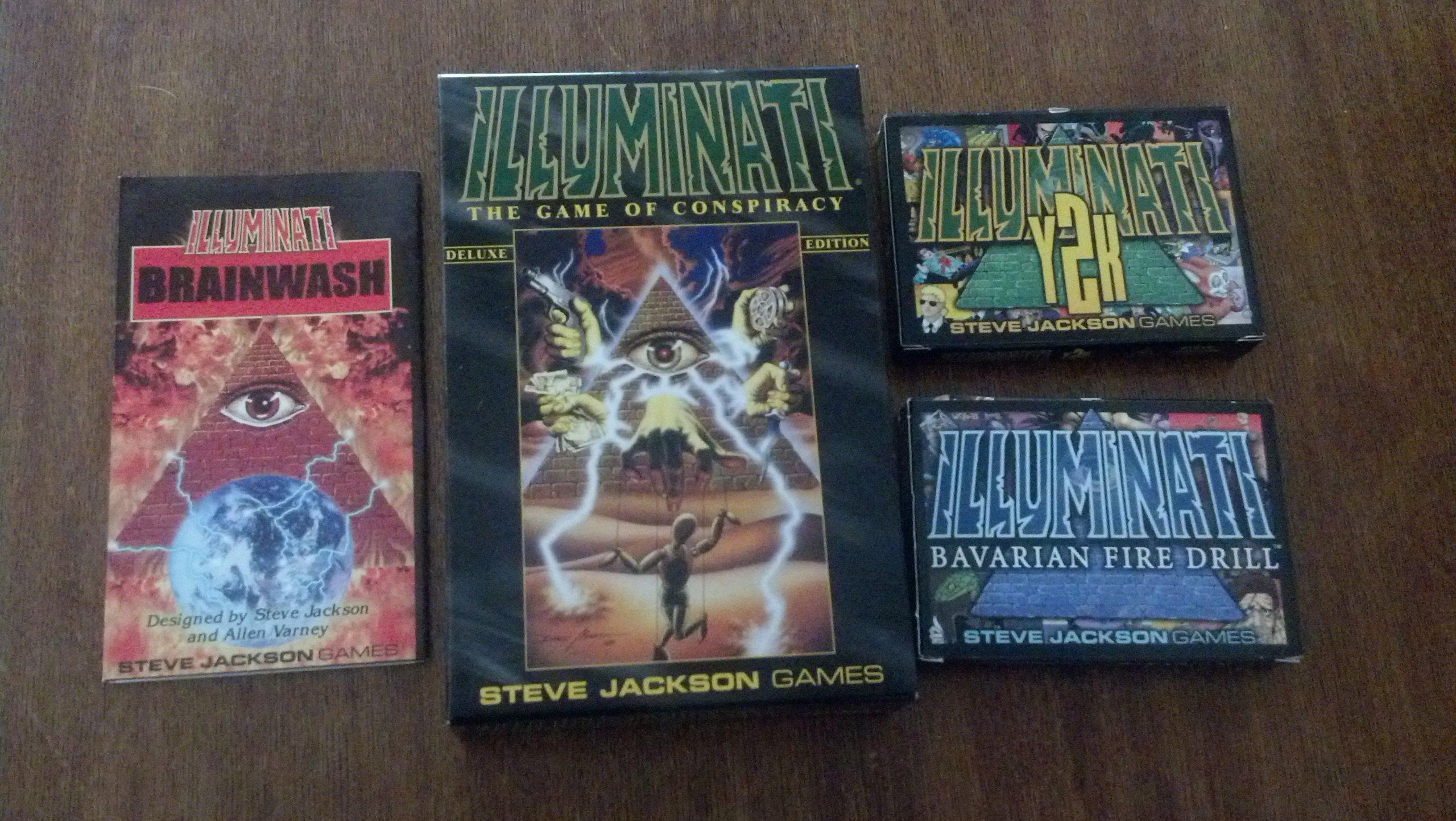 Illuminati: The Game of Conspiracy Original Plastic Case Set: Amazon.es: Steve Jackson: Libros