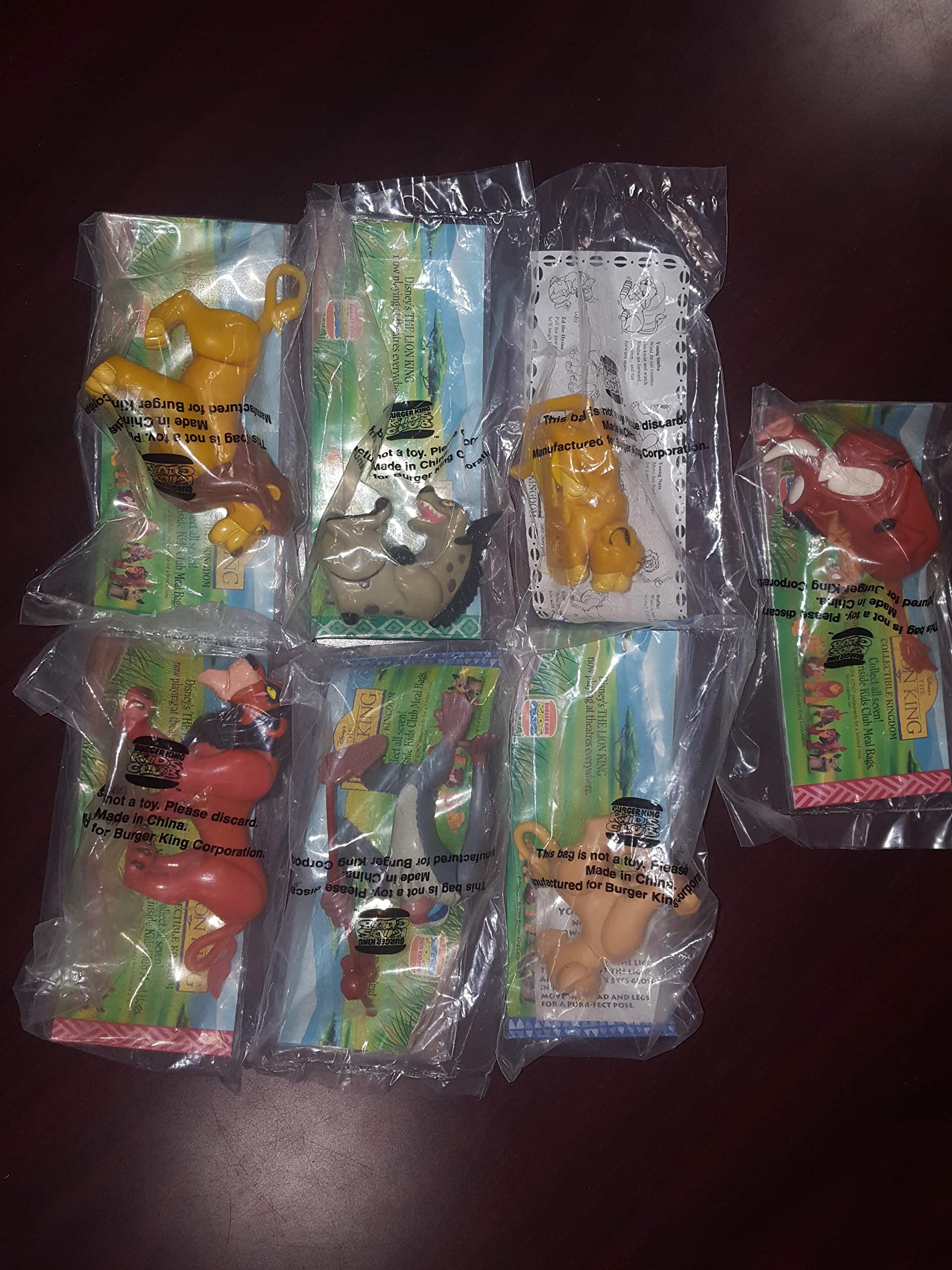 Burger King 1994 Complete Set of The Lion King, 4 Whopper Bags & Place Mat (Very Rare) by Burger King