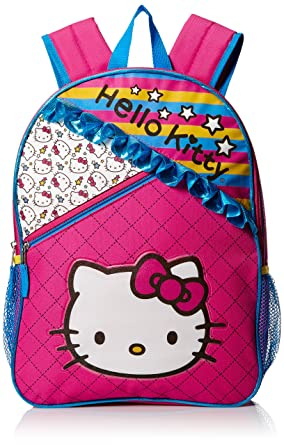 Hello Kitty Girls' Ruffles 16 Inch Backpack