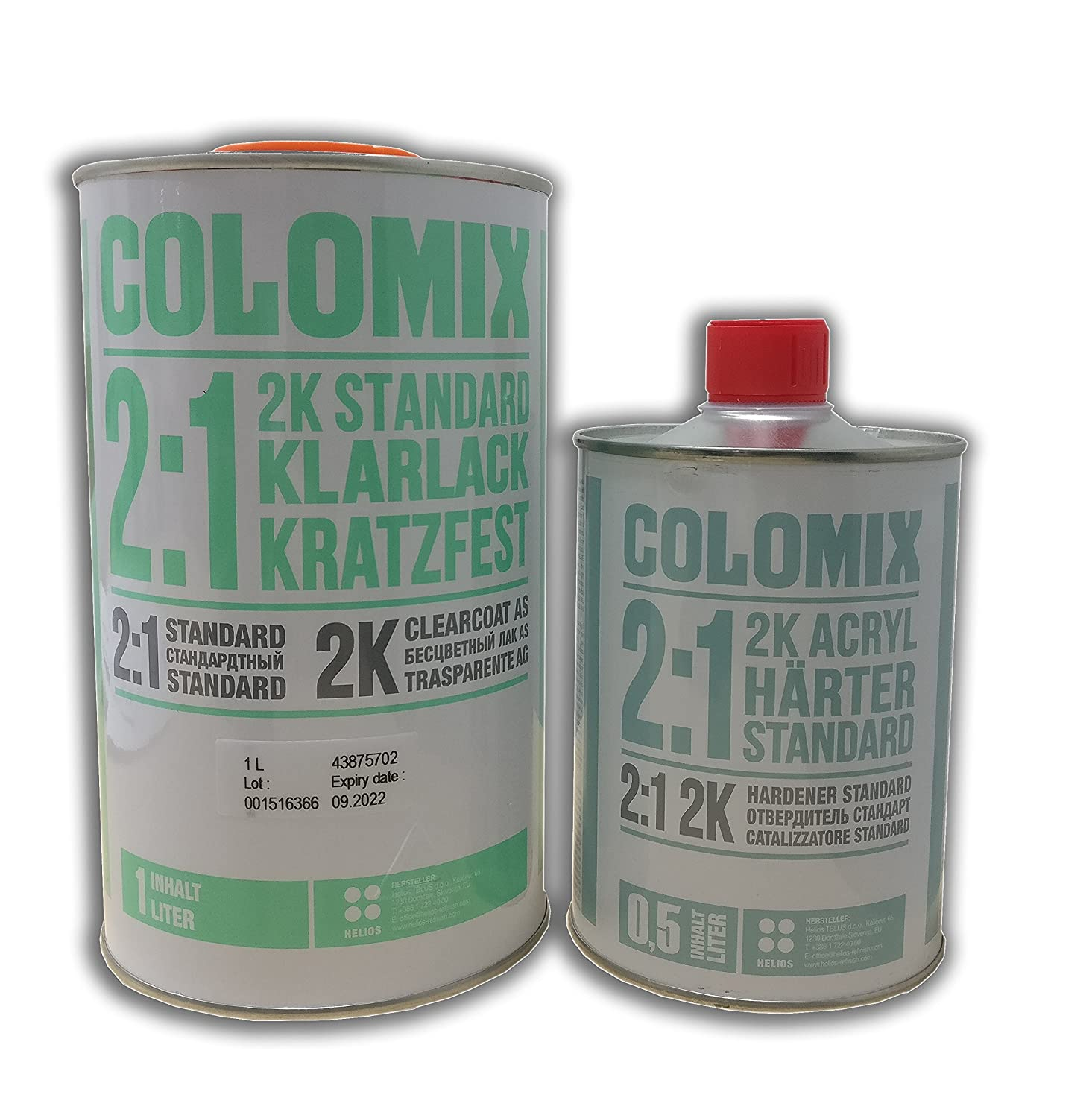 Helios Kit Barniz COLOMIX 2:1 + ENDURECEDOR 1, 5 LT