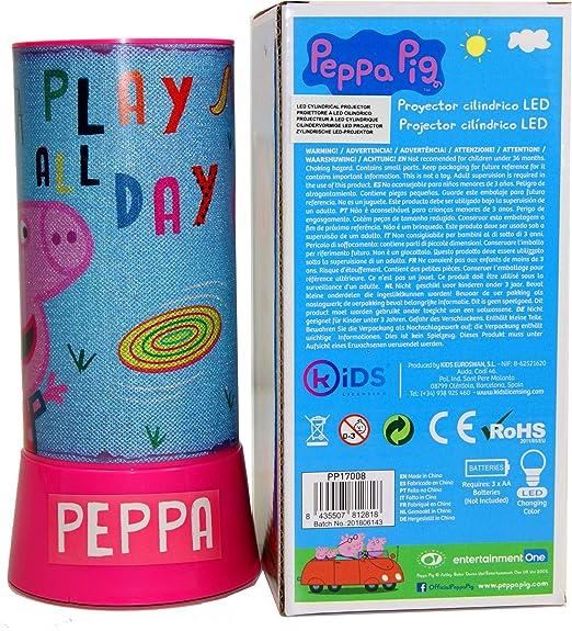 PEPPA PIG Lampara led proyector cilindrico Hogar Unisex Infantil ...