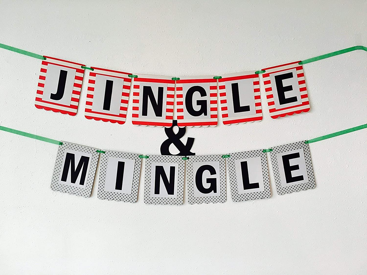 Jingle and Mingle Banner Ready to Ship Jingle and Mingle Christmas Banner Decoration,Christmas Party Banner