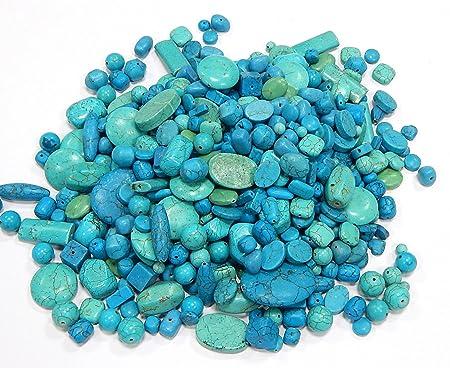 Achat Blau Turkis 1 Strang Verschiedene Formen Stein Halbedelstein