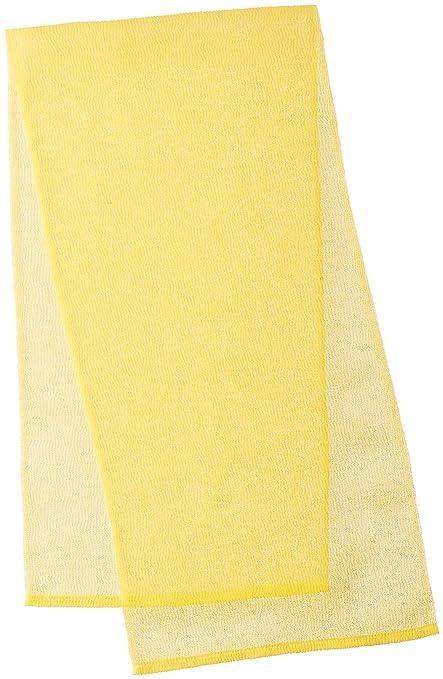 Cura serie japonesa Exfoliante toalla de baño de Ohe – Carcasa rígida Tejido – amarillo,