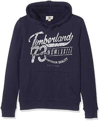 11c4cb6b9d441 Timberland SWEAT A CAPUCHE Sweat-shirt à capuche Garçon Bleu (Indigo Blue) 8