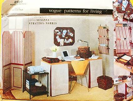 OOP Vogue Home Decor Pattern 2223 Folding Screen Or Room Divider Slipcover For File