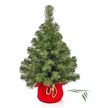 Weihnachtsbaum Rot.Artplants Mini Weihnachtsbaum Warschau Grün Rot 60 Cm ø 40 Cm Plastik Tannenbaum
